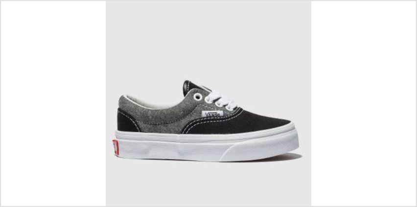 Vans Grey & Black Era Unisex Junior from Schuh
