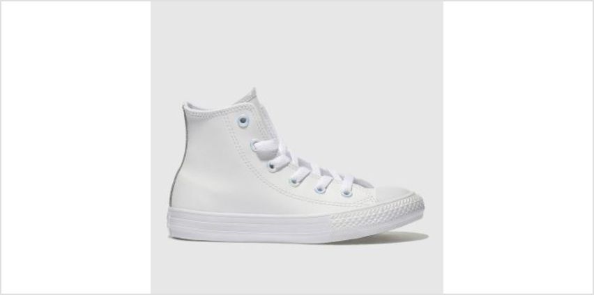 Converse White & grey All Star Hi Leather Unisex Junior from Schuh