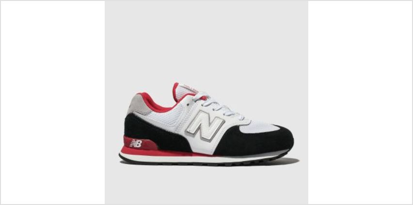 New Balance White & Black 574 Unisex Youth from Schuh