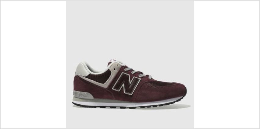 New Balance Burgundy 574 Unisex Youth from Schuh
