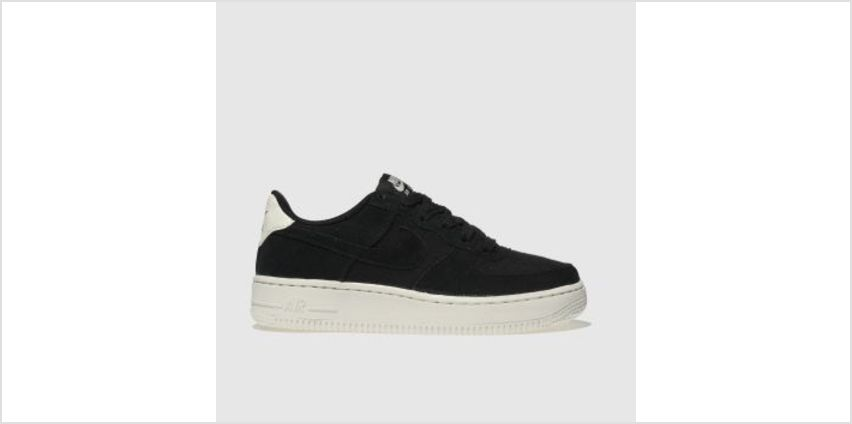 Nike Black & White Air Force 1 Unisex Youth from Schuh