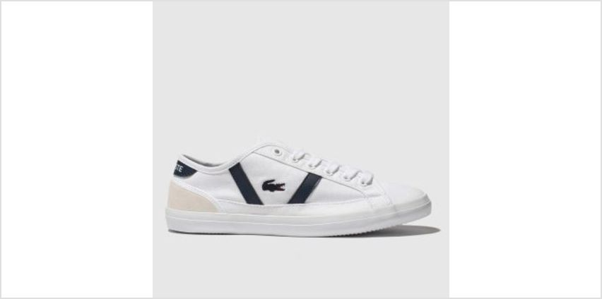 Lacoste White & Navy Sideline Unisex Youth from Schuh