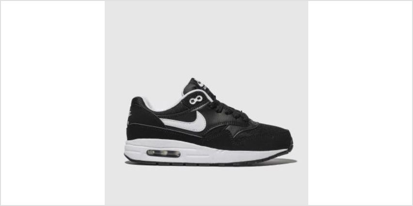 Nike Black & White Air Max 1 Unisex Youth from Schuh