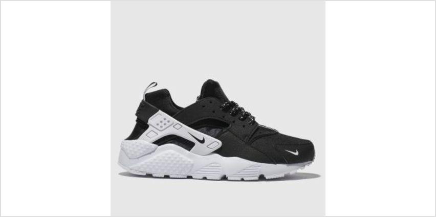 Nike Black & White Huarache Run Unisex Youth from Schuh