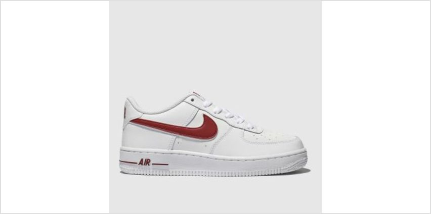 Nike White & Red Air Force 1-3 Unisex Youth from Schuh