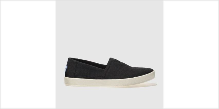 Toms Black Avalon Slip-On Mens Shoes from Schuh