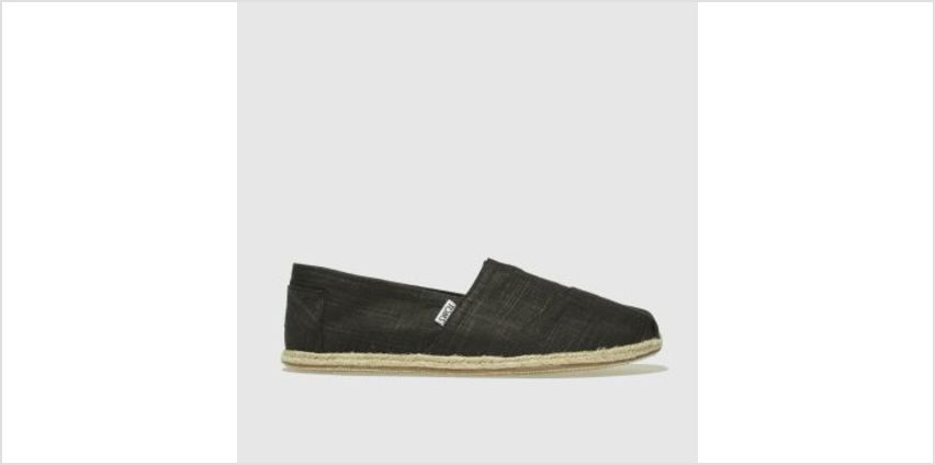Toms Black Alpargata Washed Rope Mens Shoes from Schuh