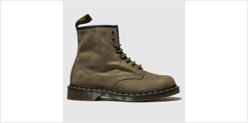 Dr Martens Khaki 1460 8 Eye Mens Boots from Schuh