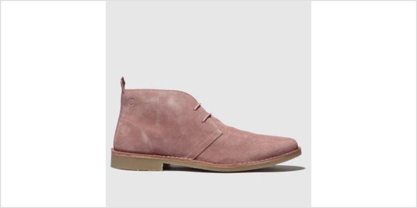 Red Or Dead Pale Pink Mr Lawrence Desert Boot Mens Boots from Schuh