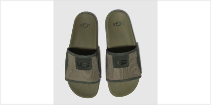 Ugg Green Xavier Ballistic Slide Mens Sandals from Schuh