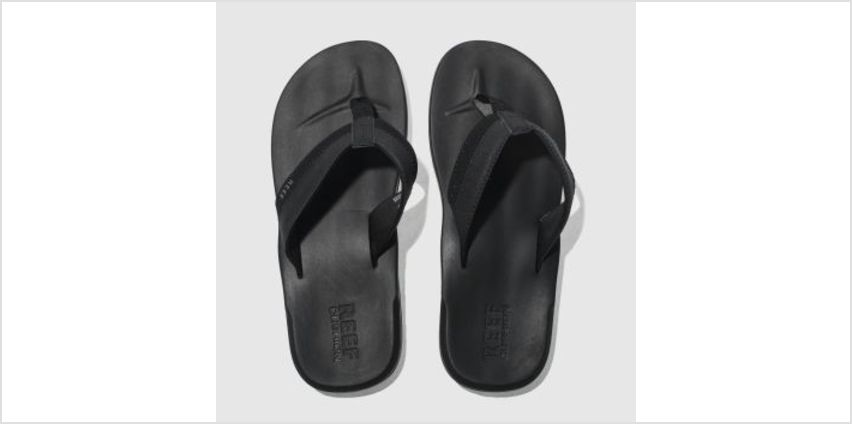 Reef Black Contoured Cushion Mens Sandals from Schuh