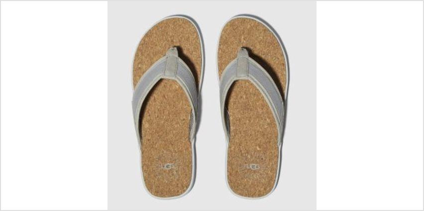 Ugg Grey Seaside Flip Mens Sandals from Schuh