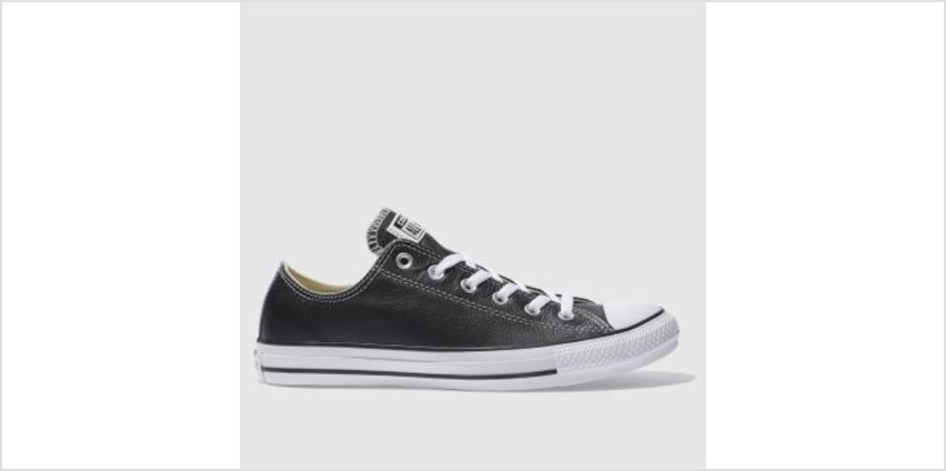Converse Black All Star Leather Ox Mens Trainers from Schuh