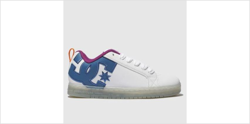 Dc Shoes White & Pink Court Graffik Se Mens Trainers from Schuh