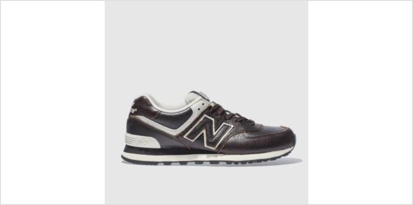 New Balance Dark Brown 574 Mens Trainers from Schuh