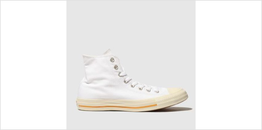 Converse White All Star Washed Hi Mens Trainers from Schuh