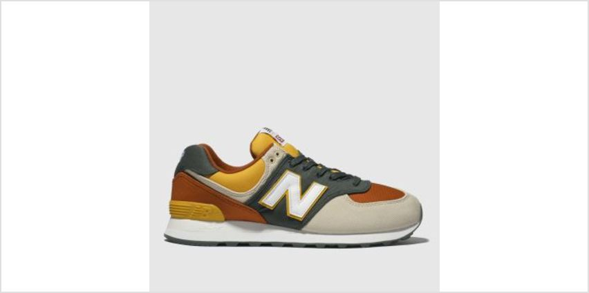 New Balance Beige & Orange 574 Mens Trainers from Schuh