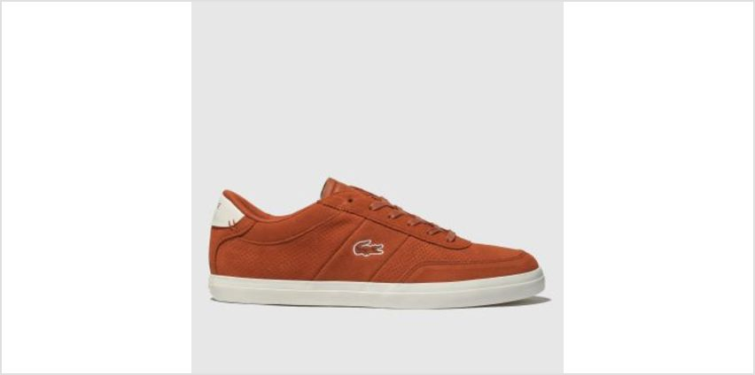 Lacoste Orange Court-Master Mens Trainers from Schuh