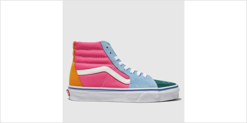 Vans Pink & Green Sk8-Hi Mens Trainers from Schuh