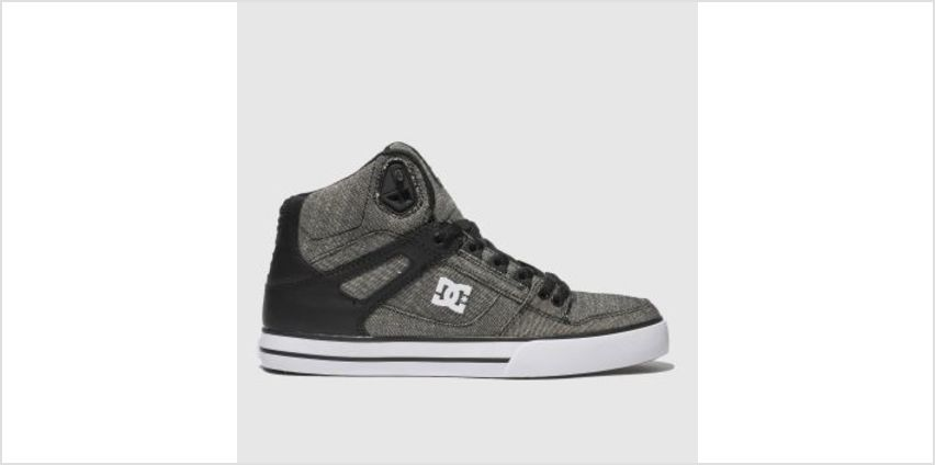 Dc Shoes Grey & Black Pure High-Top Wc Tx Se Mens Trainers from Schuh