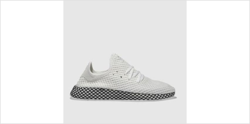 Adidas White & Black Deerupt Runner Mens Trainers from Schuh