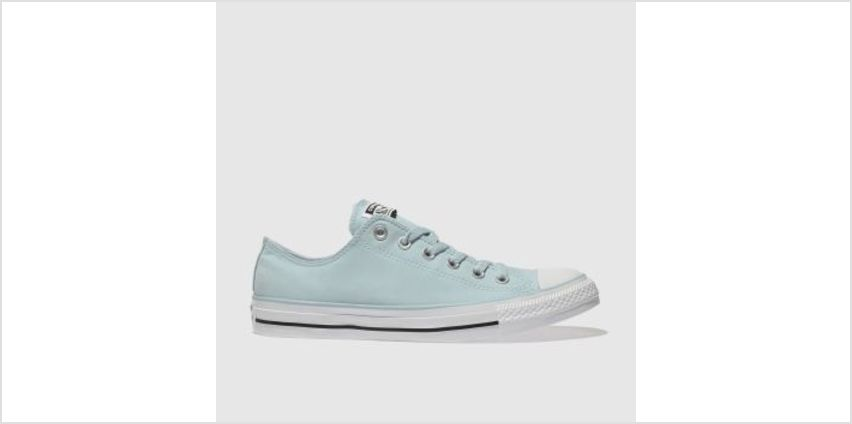 Converse Pale Blue All Star Peach Canvas Ox Mens Trainers from Schuh