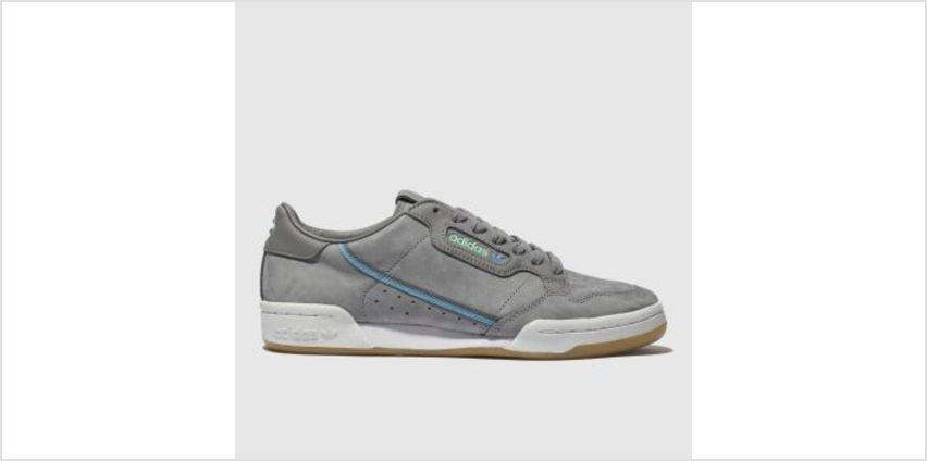 Adidas Dark Grey Continental 80 X Tfl Mens Trainers from Schuh