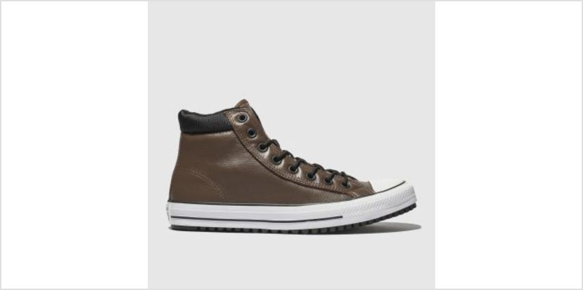 Converse Brown & Black All Star Boot Pc Hi Mens Trainers from Schuh