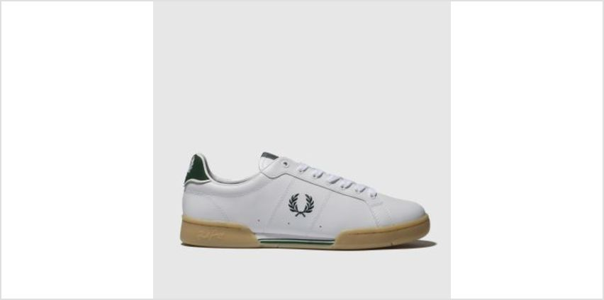 Fred Perry White & Green B7222 Mens Trainers from Schuh