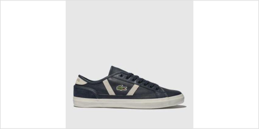 Lacoste Navy & White Sideline Mens Trainers from Schuh