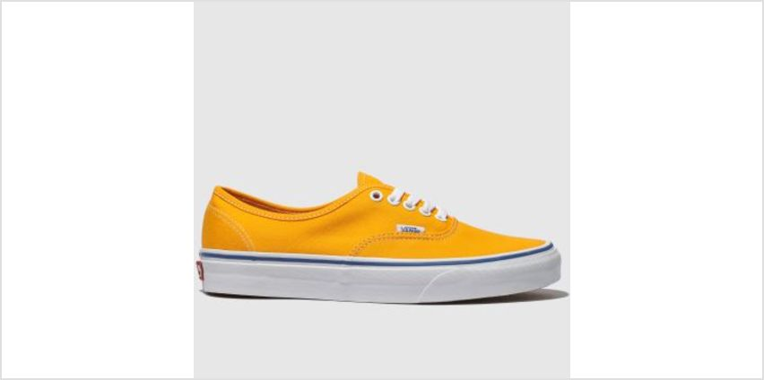 Vans Yellow Authentic Mens Trainers from Schuh