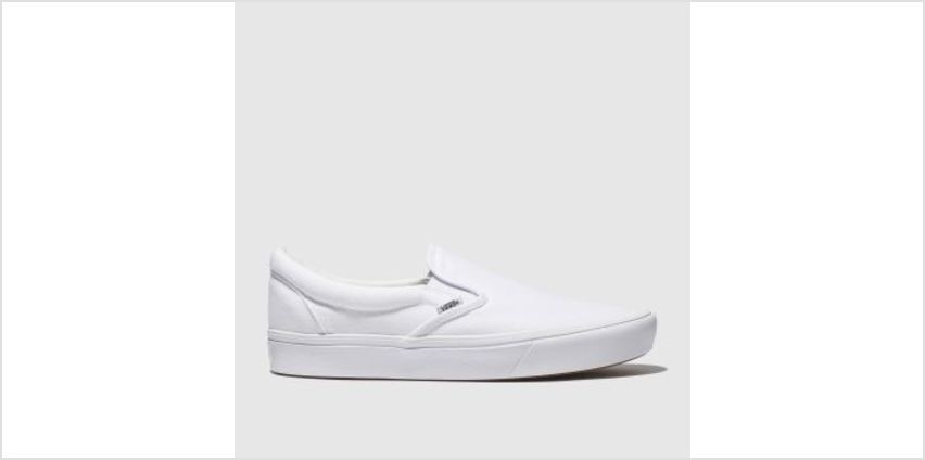 Vans White Comfycush Slip-On Mens Trainers from Schuh