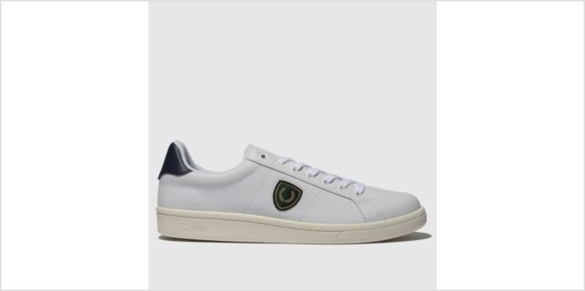Fred Perry White B721 Shield Badge Mens Trainers from Schuh