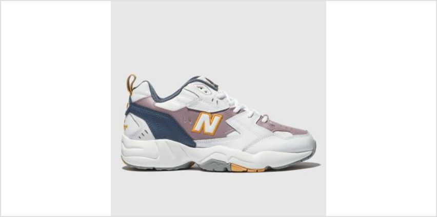 New Balance White & Purple 608 Mens Trainers from Schuh