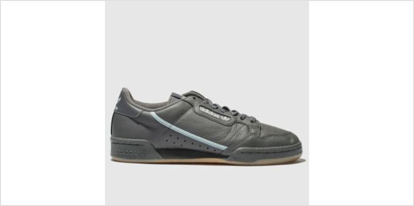 Adidas Dark Grey Continental 80 Mens Trainers from Schuh