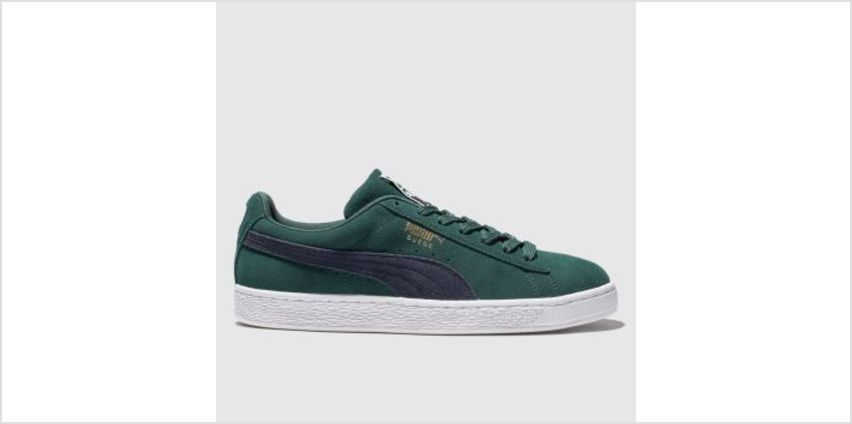 Puma Dark Green Suede Classic Mens Trainers from Schuh