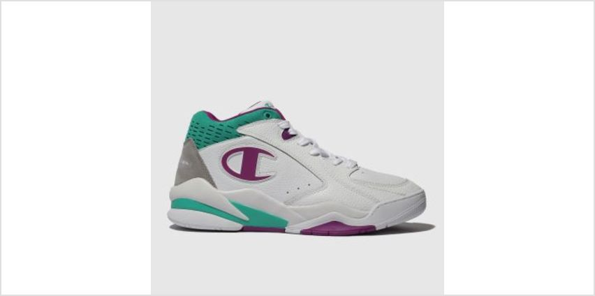 Champion White & Purple Zone Mid Mens Trainers from Schuh