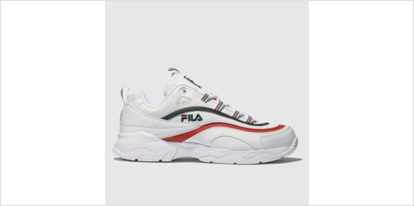 Fila White & Red Ray Mens Trainers from Schuh