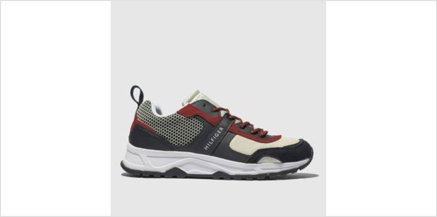 Tommy Hilfiger Navy & White Lightweight Runner Mens Trainers from Schuh