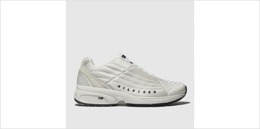 Tommy Hilfiger White & Navy Tj Heritage Sneaker Mens Trainers from Schuh