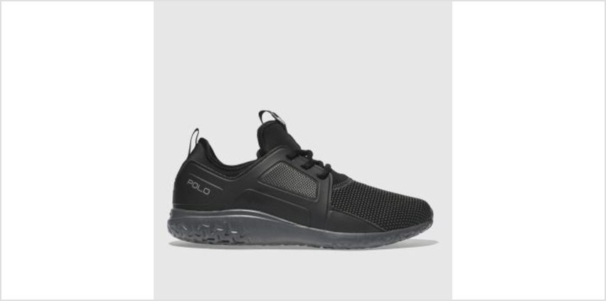 Polo Ralph Lauren Black & Grey Train 150 Mens Trainers from Schuh