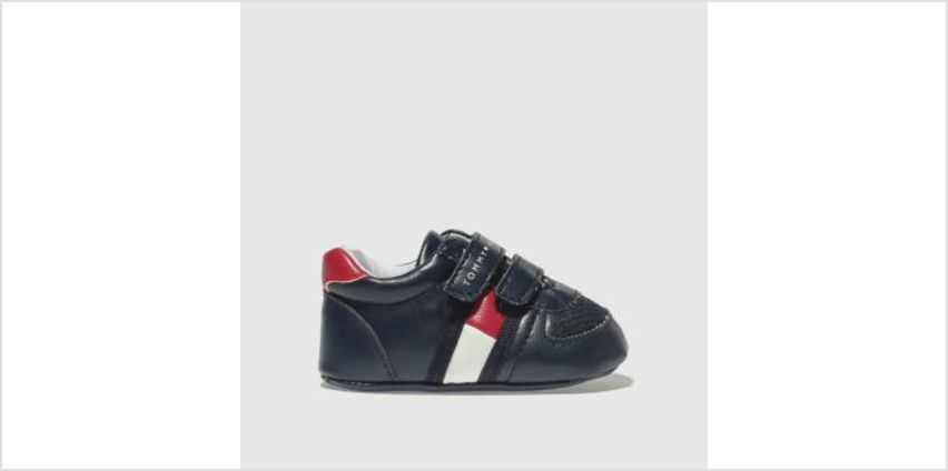 Tommy Hilfiger Navy & Red Velcro Classic Crib Boys Baby from Schuh