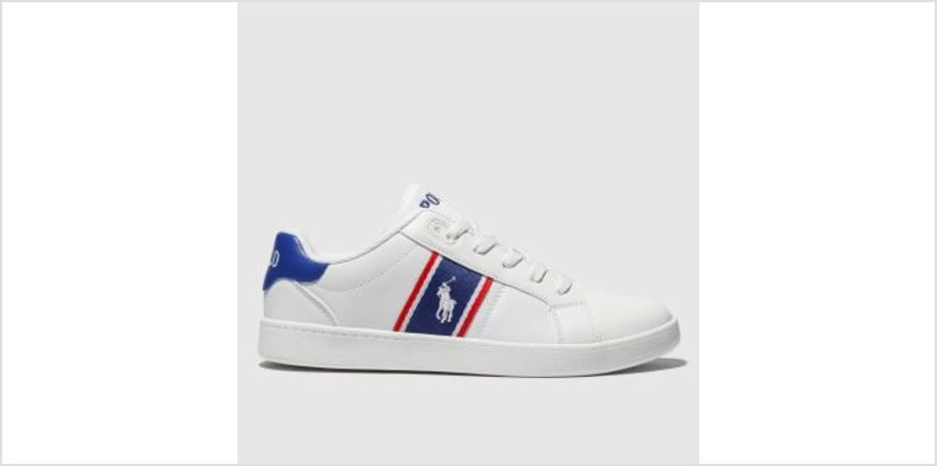 Polo Ralph Lauren White & Blue Quigley Boys Youth from Schuh