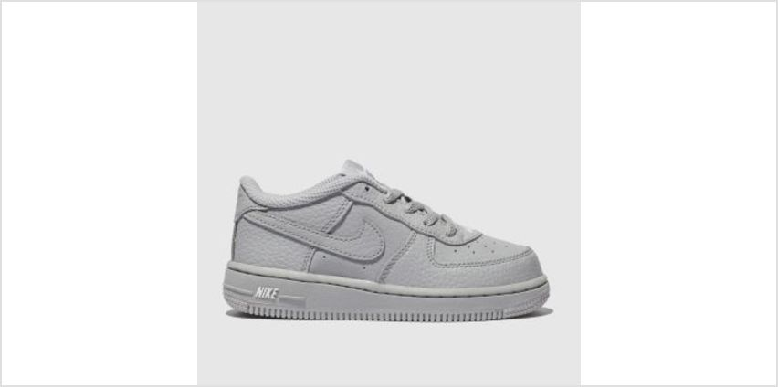 Nike Light Grey Force 1 Leather 2 Boys Toddler from Schuh