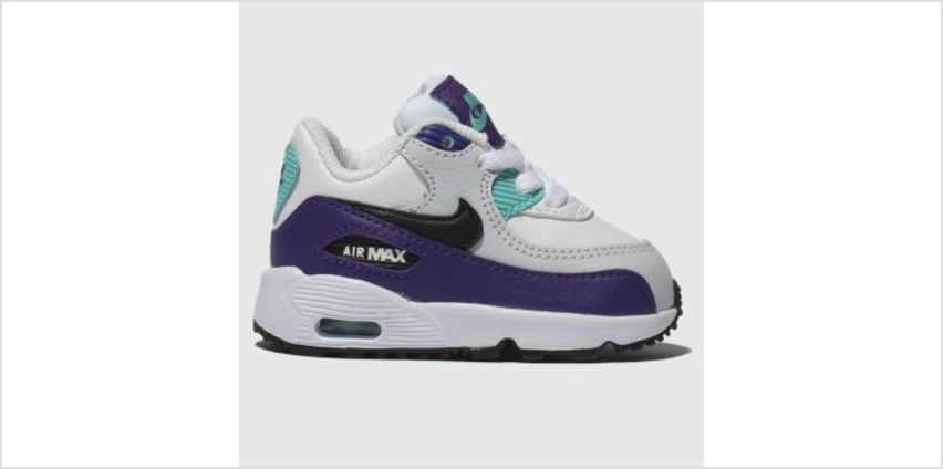 Nike White & Purple Air Max 90 Mesh Boys Toddler from Schuh
