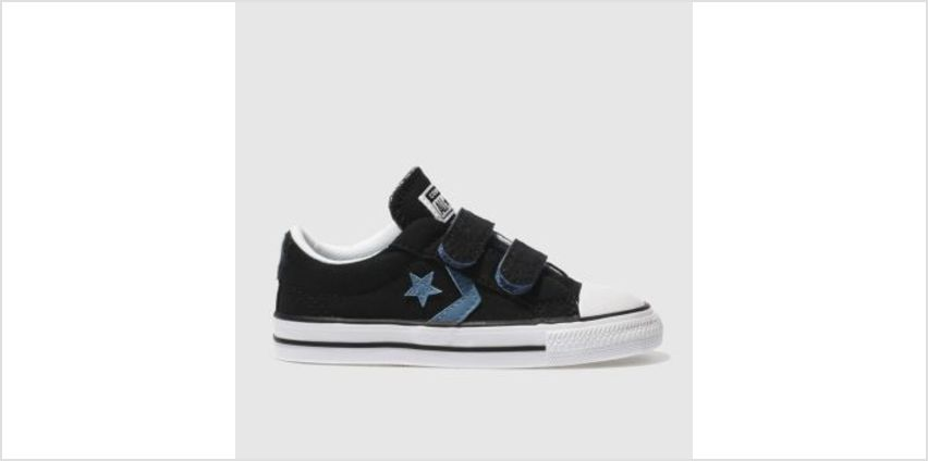 Converse Black and blue Star Player 2V Boys Toddler from Schuh