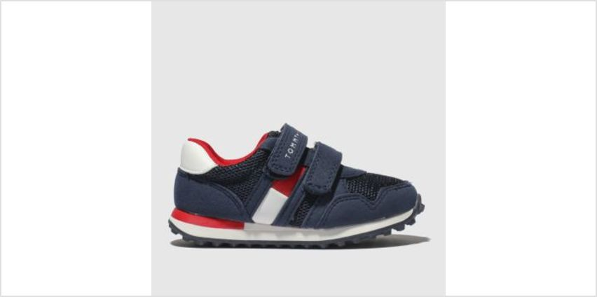 Tommy Hilfiger Navy & Red Flag Velcro Sneaker Boys Toddler from Schuh