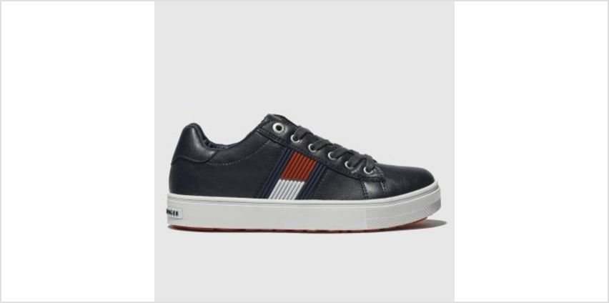 Tommy Hilfiger Navy & White Flag Lace Up Sneaker Boys Junior from Schuh
