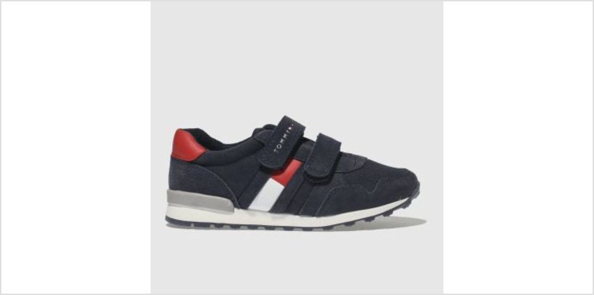 Tommy Hilfiger Navy & Red Velcro Sneaker Classic Boys Junior from Schuh