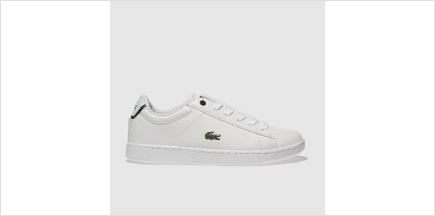 Lacoste White Carnaby Evo Boys Junior from Schuh